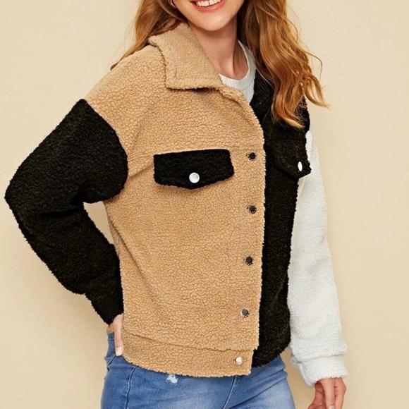 Mod Me Over Jackets & Blazers - In Posh Trend Report NEW Colorblock Teddy Jacket